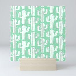Mid Century Modern Desert Cactus Pattern 859 Mini Art Print