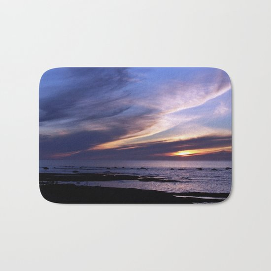 Feathered Clouds at Sunset Bath Mat