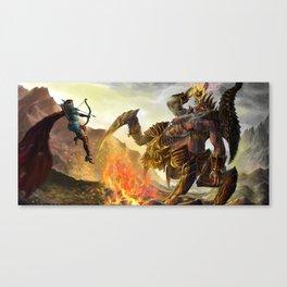 Sylvanas vs Azmodan in dark desert Canvas Print