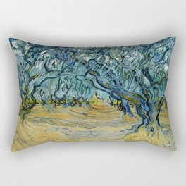 "Vincent Van Gogh ""The Olive Trees, Saint-Rémy"" Rectangular Pillow"