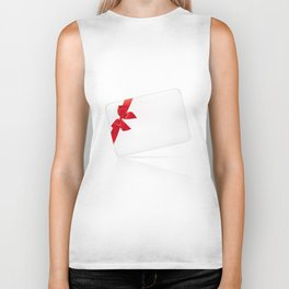 Card with red bow Biker Tank