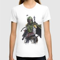 boba fett T-shirts featuring Boba Fett by KristinMillerArt