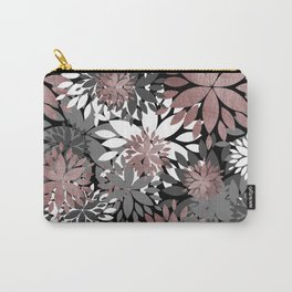 Pretty rose gold floral illustration pattern Carry-All Pouch