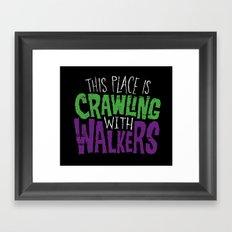 Crawling Walkers Framed Art Print