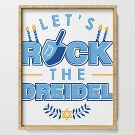 Rock the Dreidel | Jewish Hanukah Hanukkah Chanukah Serving Tray