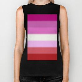 Lesbian Pride Flag v2 Biker Tank