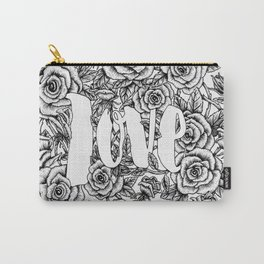 Love - Roses Illustration Carry-All Pouch