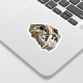 Saber Tooth Skull Sticker