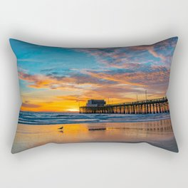 December Skies at Newport Pier Rectangular Pillow