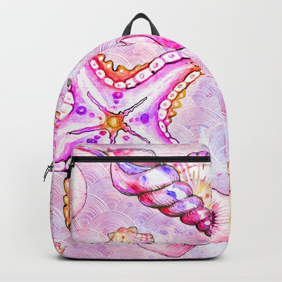 Pink seahorse Backpack