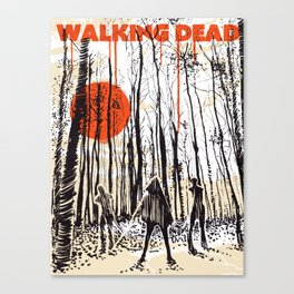Walking dead Michonne art Canvas Print
