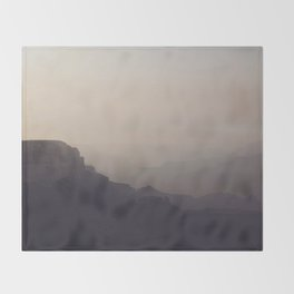 Smoky Hazy Sunset in the Grand Canyon Throw Blanket