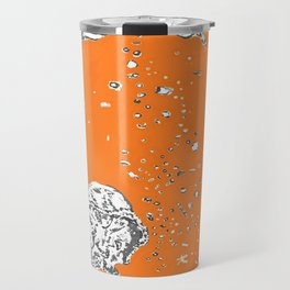 Two Tailed Duck and Jellyfish Orange Travel Mug