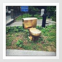 Golden Throne Art Print