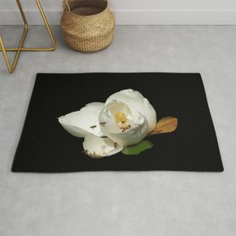 Magnolia with Bees on Black DPG150523a Rug