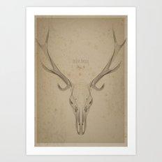 My Deer Skull Art Print