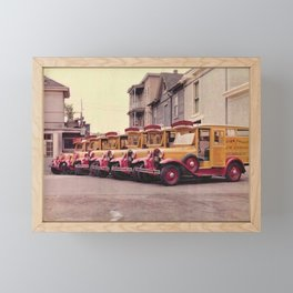 Peter Palagi Vintage Ice Cream Man Trucks Pawtucket, Rhode Island Framed Mini Art Print