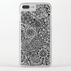 Delicate Lace Mandala Pattern Clear iPhone Case