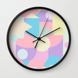 Pastel Weirdscape View Wall Clock