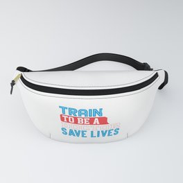Medical Professional Train to be a Doctor Save Lives Stethoscope Fanny Pack