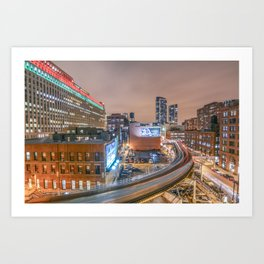2 Trains Art Print