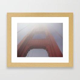 Fog on the Golden Gate Bridge Framed Art Print