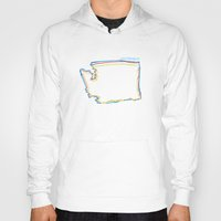 washington Hoodies featuring washington by barmalisiRTB