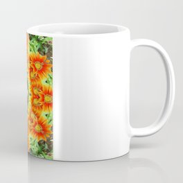 Kaleidoscopic Orange Garden Gazanias Coffee Mug