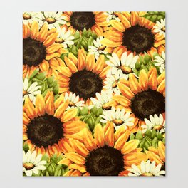 Summer Garden (Sunflower Sunshine) Canvas Print