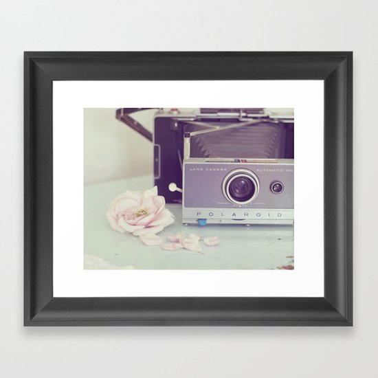 Polaroid, I Love You Framed Art Print