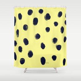 Fingerprint of Dots Shower Curtain