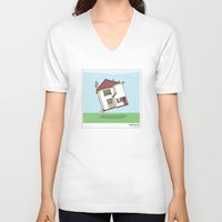 lighthouse V-neck T-shirts featuring Lighthouse by Masonic Comics