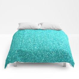 Aqua Blue Glitter Comforters