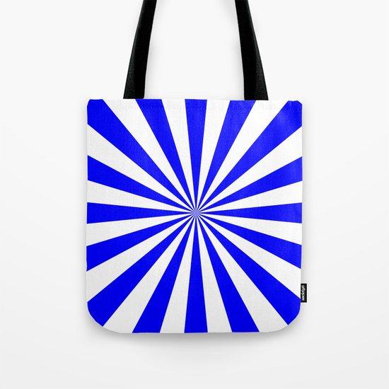 Starburst (Blue/White) Tote Bag