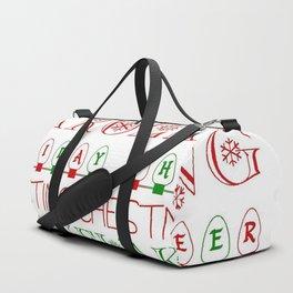 Fun Christmas Subway Art Duffle Bag