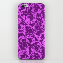 Vintage Swirls Winterberry Orchid Purple iPhone Skin