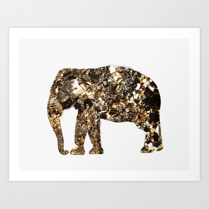 Gold Elephant Art Print