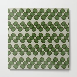 dots zigzag-green Metal Print