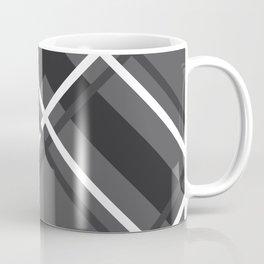 Jumbo Scale Men's Plaid Pattern Coffee Mug