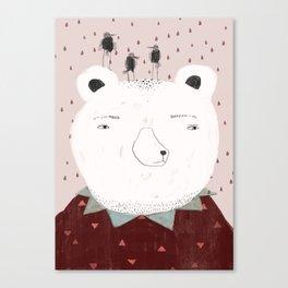 Smart bear Canvas Print