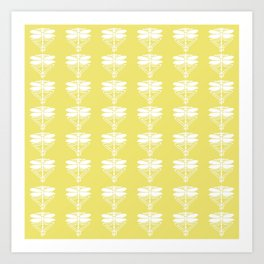 Honeysuckle Arts and Crafts Dragonflies Art Print