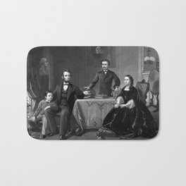 President Lincoln And His Family Bath Mat