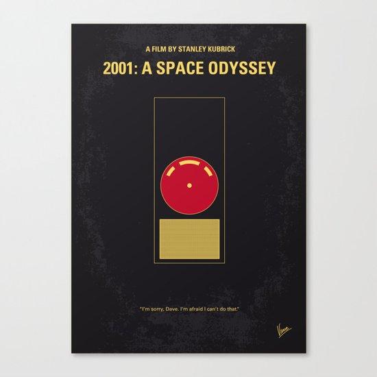 No003 My 2001 A space odyssey 2000 minimal movie poster Canvas Print