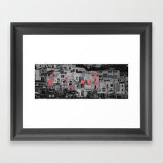red sheets Framed Art Print