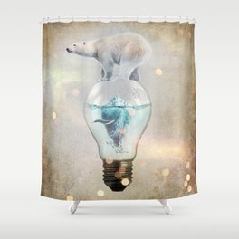Polar Bear Ice Cap Shower Curtain