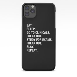Clinical, Nursing Student, Med Student, Funny Nurses iPhone Case