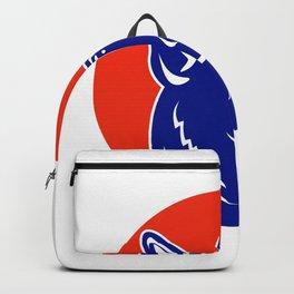 German Shepherd Silhouette Mascot Backpack