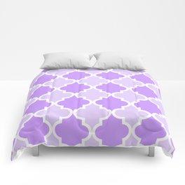Quatrefoil - light purple dual tone Comforters