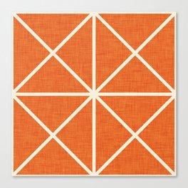 Grid Orange Canvas Print
