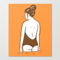 swim Canvas Prints featuring Swim by Mike Force